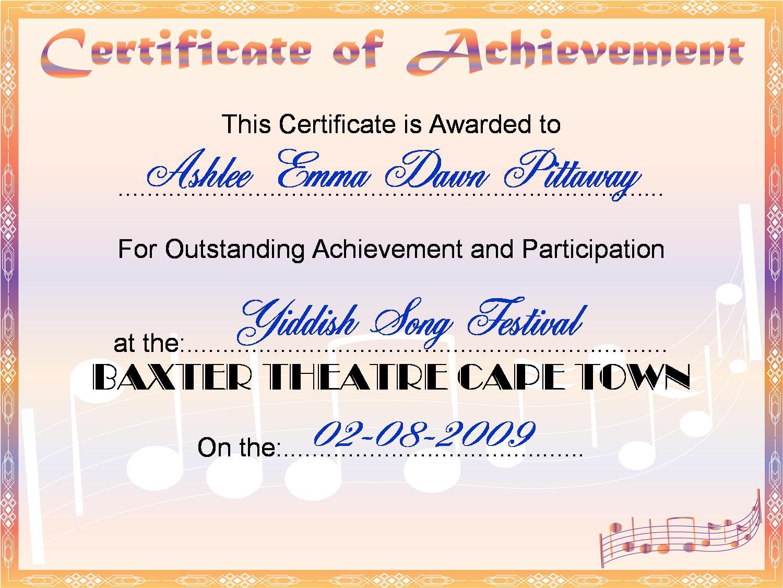 Liats montessori montessori templates batmitzvah special needs certificates of achievement let liat make certificates for you contact me 1betcityfo Images